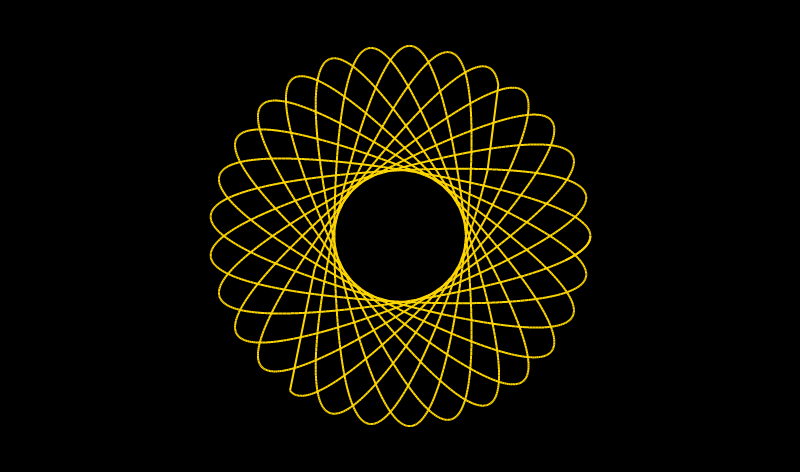 Spirograph effect in HTML canvas